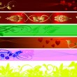 Floral and valentines background - Vektorgrafik
