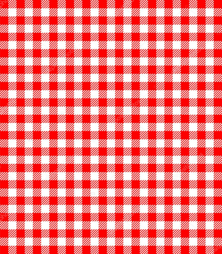 Red and white popular background pattern for picnics — Stock Vector #2673487