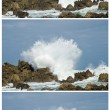 Big waves crashing down - Stock Photo
