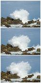 Big waves crashing down — Stock Photo