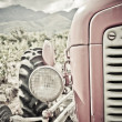 Stock Photo: Old red tractor