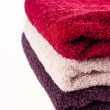 Royalty-Free Stock Photo: Pink, red and purple towels