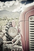 Old red tractor — Stock fotografie