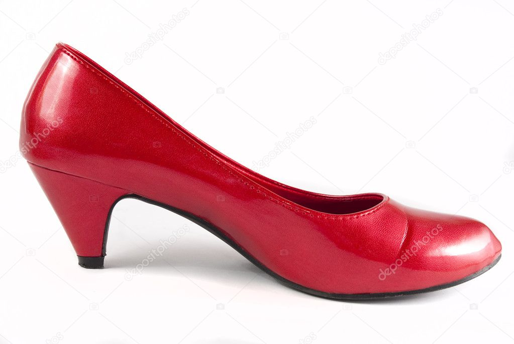 Red stiletto shoes isolated on a white background  Stock Photo #2280108