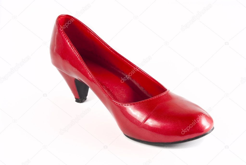 Red stiletto shoes isolated on a white background — Stock Photo #2280790