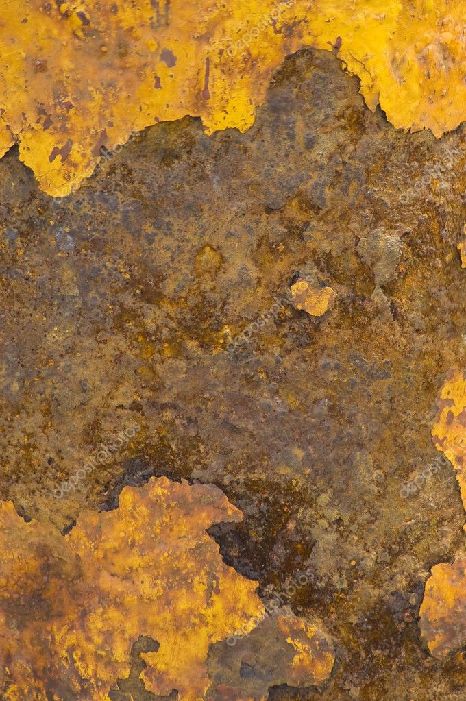 Rusted brown and yellow metal surface — Stock Photo #2283151