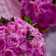 Two wedding flower bouquets — Stock Photo