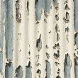 Peeling paint from metal surface - Stock Photo