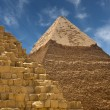 Pyramids at Giza - Stock Photo