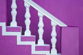 Pink staircase — Stock Photo