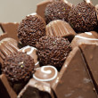 Stock Photo: Chocolate ball wedding cake