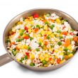 Quickly frozen vegetable mixture — Foto Stock