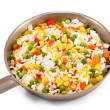 Stock Photo: Quickly frozen vegetable mixture