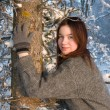 Beautiful girl in winter forest — Stock Photo #2169958