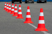 Cone on road — Stock Photo