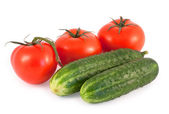 Tomato and cucumbers — Stock Photo