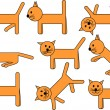 Amusing kitty - Stock Vector