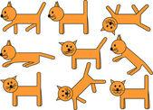 Amusing kitty — Stock Vector