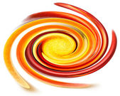 Varicoloured spiral on white background — Stock Photo