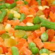 Stock Photo: Frozen vegetable mix