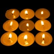 Luminous square from candle — Stock Photo