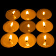 Luminous square from candle - Stock Photo