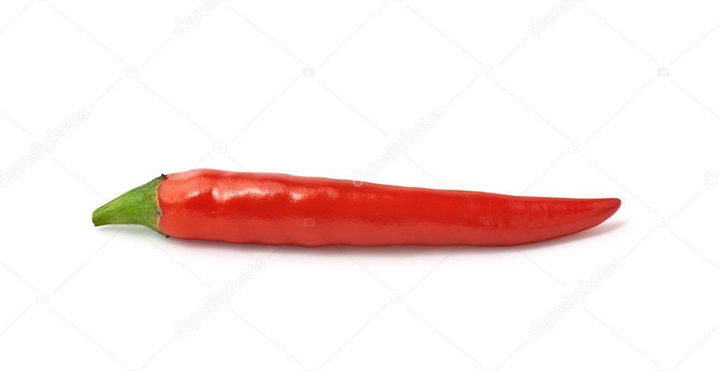 Close up of red hot pepper isolated on white background  Stock Photo #2232204