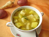 Vegetable soup with parsnips — Stock Photo