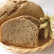Bread from the bread-making machine - Stock Photo