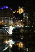Lyon at night — Stock Photo