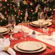 Christmas dinner table — Stock Photo #2292498