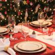 Boże Narodzenie stole — Zdjęcie stockowe
