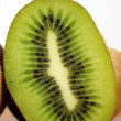 Cross section of kiwi — Stock Photo