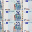 Twenty euros — Stock Photo