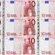 10 euro bills — Stock Photo
