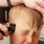 Professional haircut — Stock Photo