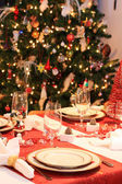 Set christmas table — Stock Photo