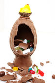 Uovo di pasqua al cioccolato — Foto Stock