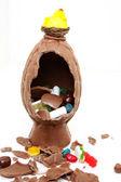 チョコレートのイースターエッグ — ストック写真