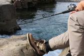 Leisure fishing — Stock Photo