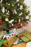 Tree and gifts — Stock Photo