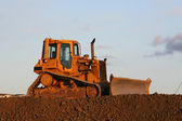 Idle bulldozer — Stock Photo