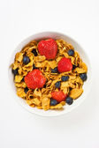 Breakfast cereal bowl — Stock Photo