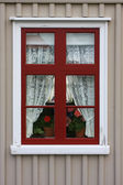 Old red window — Stock Photo