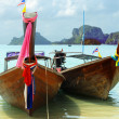 Traditional longtail boats - Foto Stock