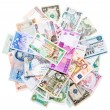 Money from around the world - Stock Photo