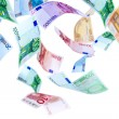 Flying Euro money — Stock Photo #2177822