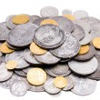 Stock Photo: Heap of old gold and silver coins