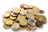 Heap of euro coins — Stock Photo