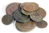 Heap of old copper coins — Stock Photo